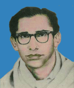 A portrait of Syed Zahoor Hashmi