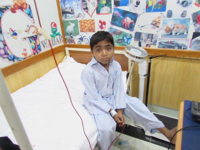 Another Thallasemia patient in Civil Hospital, Gwadar