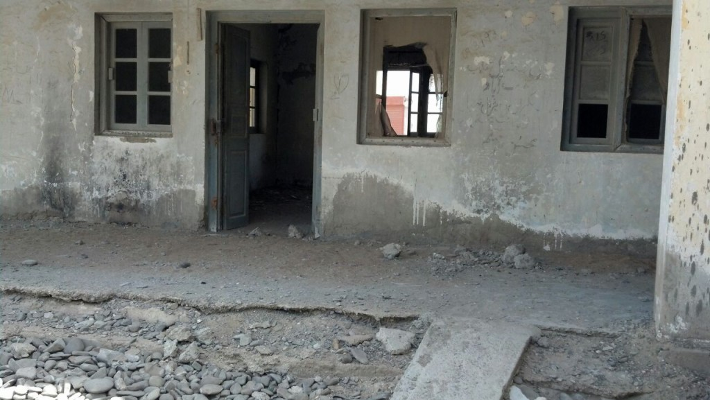 The dilapidated state of the Pasni Rural Health Center (Source: PakVoices)