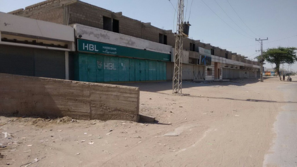 Shops and banks shuttered in Gwadar