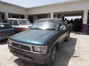 The vehicle recovered during the raid has no number plates
