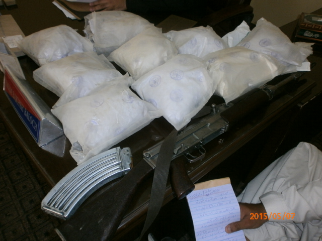 Drugs and weapons recovered in the raid