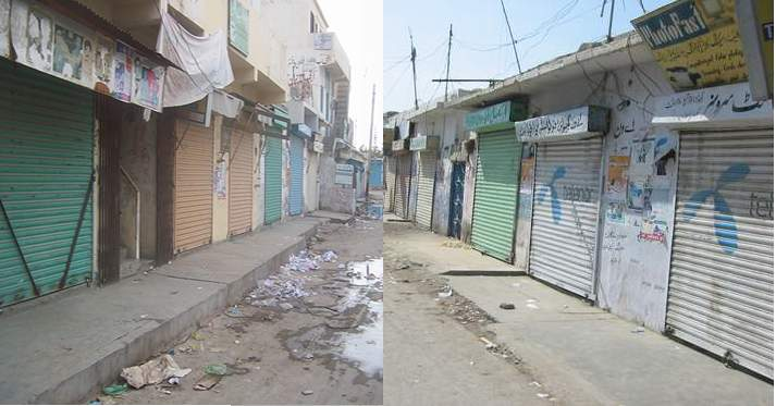 Markets observe a shutter-down strike in Gwadar