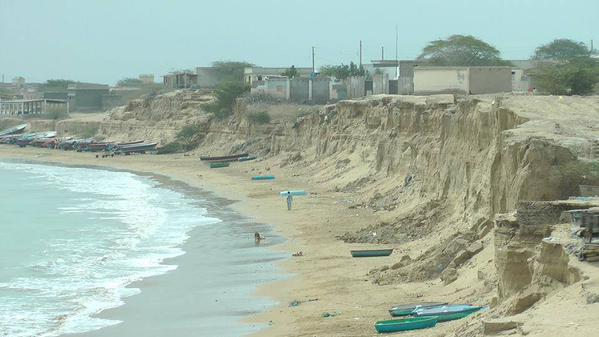 Sea erosion in Pishukan