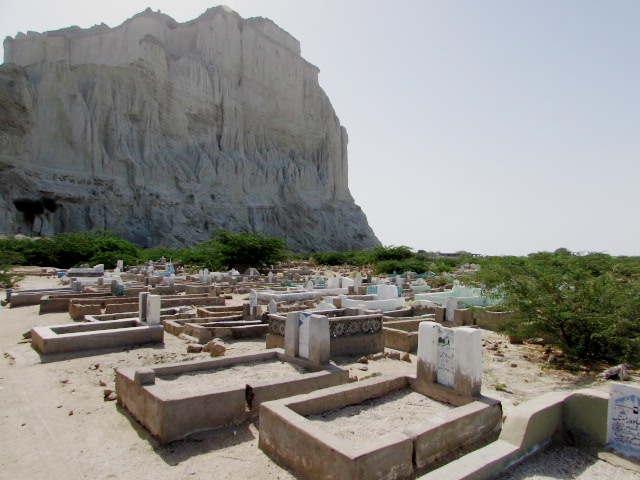 The old graveyard at Koh-e-Bateel