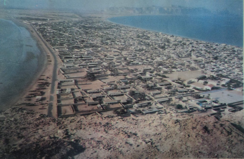 A view of Gwadar city in 1990s
