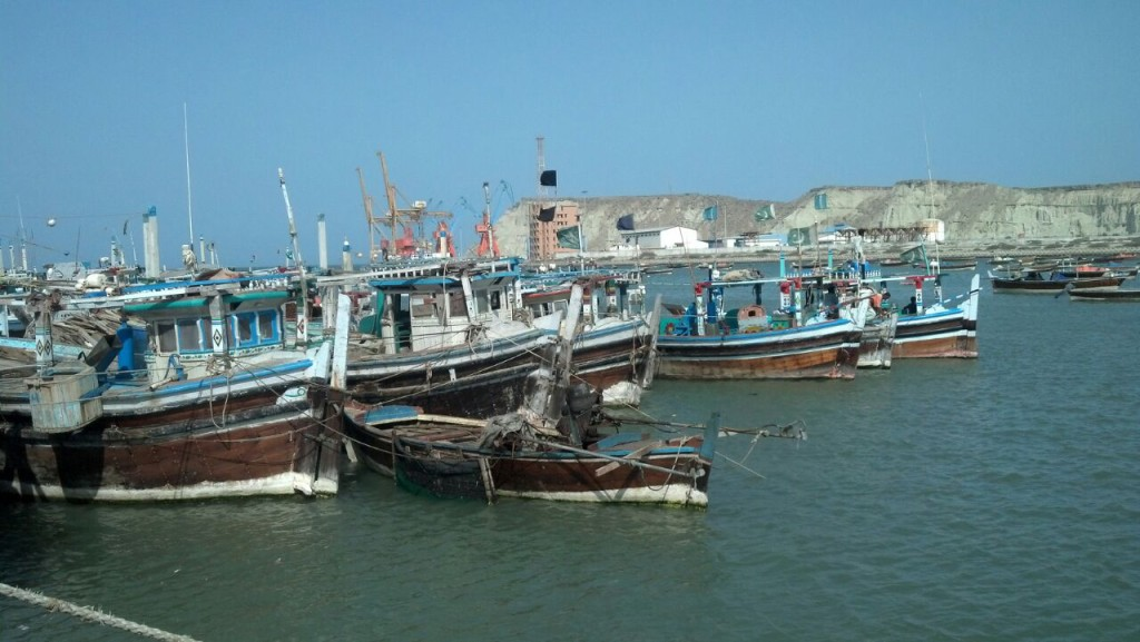 Another view of boats on Gwadar coast