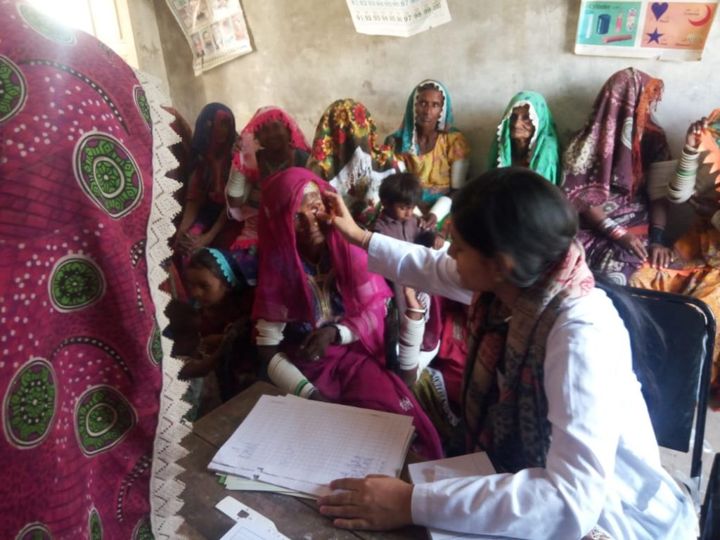 Free health camp setup in Tharparkar for children and